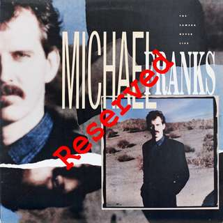 RESERVED - Michael Franks Vinyl LP, used, 12-inch original pressing