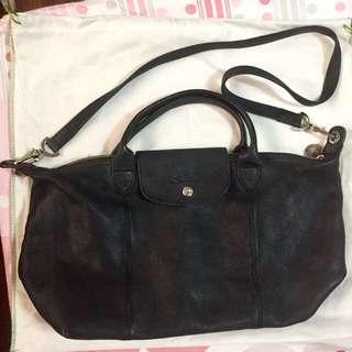 Longchamp Cuir Black Small