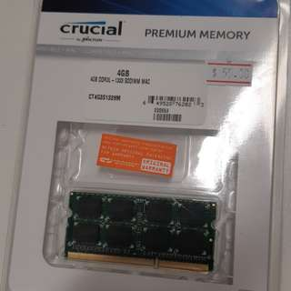 Crucial 4GB DDR3L - 1333 SODIMM Mac Compatible RAM For Sale