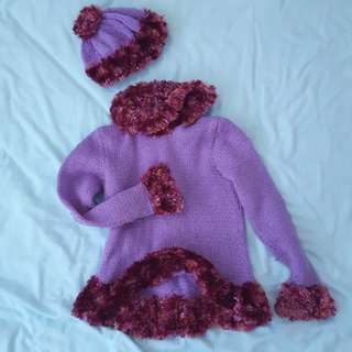 Knitted Sweater with Hat