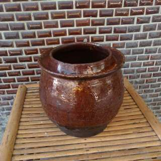 紅磚胎豬油甕(罐)—古物舊貨、民藝收藏
