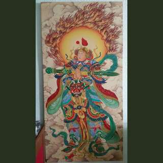 "Wei Tuo Pu Sa - Canvas (27.5"" × 56"")"