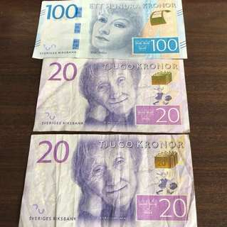 120 Swedish Kroner to SGD