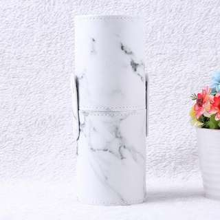 Marble makeup brushes holder