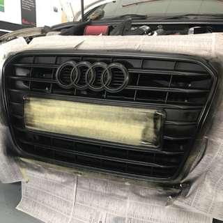Audi grill plastidip matt black