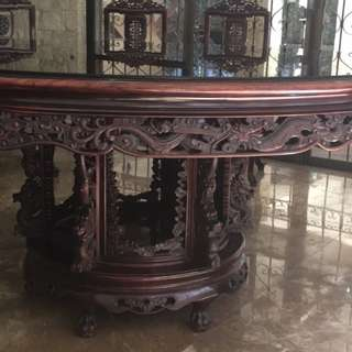 50In Rosewood Dining Set / 10 seater with Dragon Carved design., Original made from China...