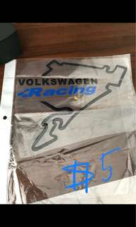 Volkswagen Racing sticker.. High Quality..