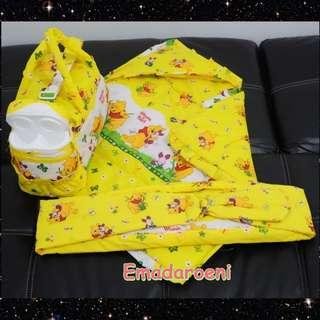 MURAH Paket Perlengkapan Bayi 3in1 tas gendongan selimut topi winnie the pooh
