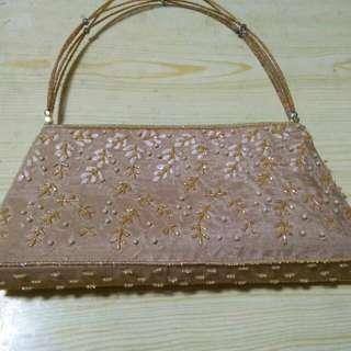 絲質娘惹珠绣手提包(5x10寸)