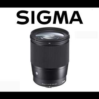Sigma 16mm F1.4 DC DN Contemporary Lens for Sony E-Mount