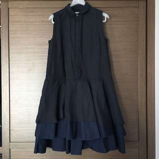Initial one piece dress (Navy blue,size2)