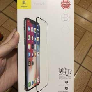 倍思 Baseus iPhone x mon 貼 鋼化玻璃膜 全幕 高清防指紋 軟膠邊