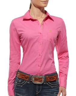 Hush puppies Pink button shirt with Long sleeves