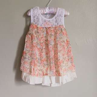 2 to 4 year old Floral Lace Dress / TOP #HUAT50SALE