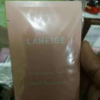 Laneige Fresh Calming Toner Quick Toner Pack Samplers Sachet