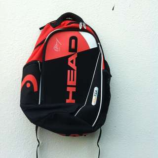 Head Andy Murray haversack. Dimension 50 x 40 x 20cm.   In good condition.