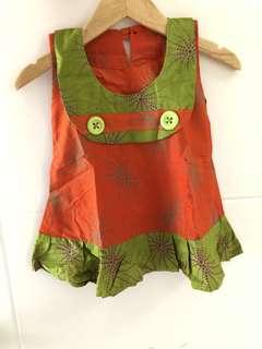 Batik dress size 12m