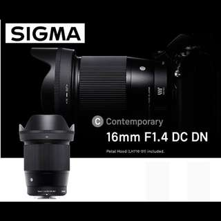 Sigma 16mm F1.4 DC DN Contemporary Lens for Micro Four Thirds Mount