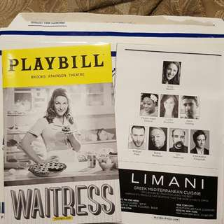 Jessie Mueller - Waitress the Musical (Broadway, New York) Playbill