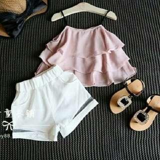 TiaCR ST KID BASIC PINK baju anak (no barter, no nego)
