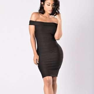 Fashion nova black off shoulder dress