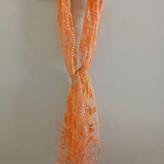Flowery shimmery scarf from Italy