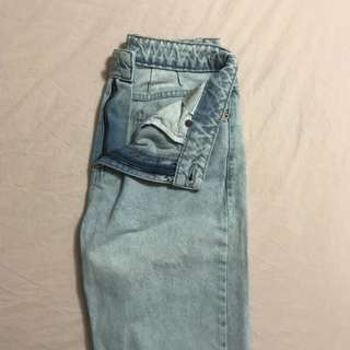 Topshop Mom Moto Jeans