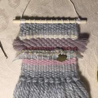 Clara -mini weave for baby girl crib decor