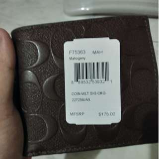 Men Coach Wallet (Brown) - 100% Original