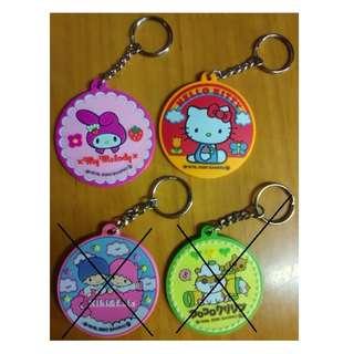 2000年 匙扣 吊飾 - Melody, Hello Kitty, Twin Stars, CK鼠 哈姆太郎 Sanrio