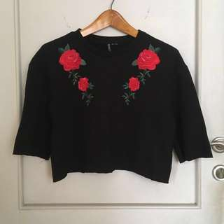 H&M Sweater - Flower embroidery