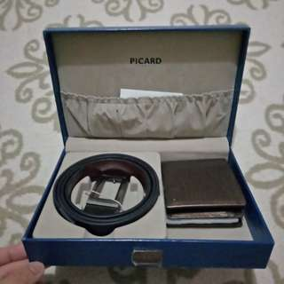 Picard Wallet & Belt (100% Original) - with box set