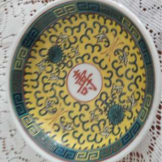 antique porcelin sauce plate