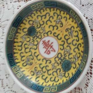 antique porcelin sauce plate