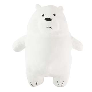 We bare bears Ice bear plushie travel pillow with blanket