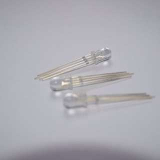 LED 4pin RGB 5mm clear round head