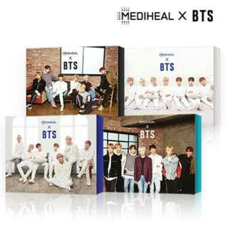 BTS X MEDIHEAL SPECIAL COLLABORATION FACE MASK SHEET BOX