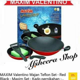 Wajan teflon set Maxim Valentino