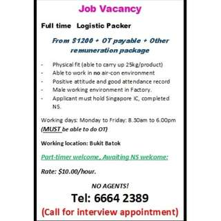 Various job position - Only call in for more informations