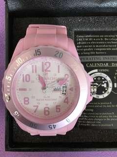 法國品牌chevachi 粉紅色手錶