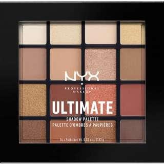 NYX eyeshadow palette Warm Neutrals 眼影 大地 玫瑰 16色 眼影盤