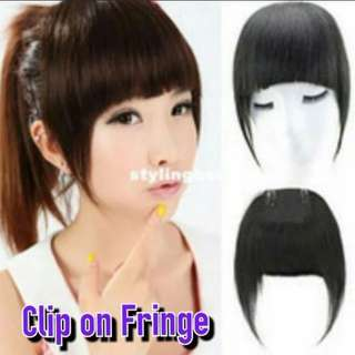 Front Clip On Hair Bangs MULTI color Choices ~
