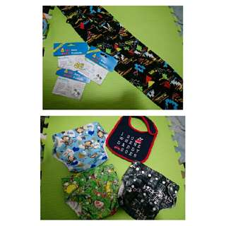 Baby Package B (3 Cloth Diapers + Breastfeeding Cover) with Free Bib