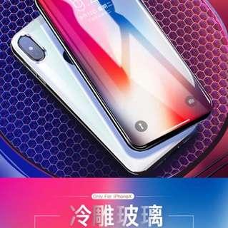 倍思iPhoneX鋼化膜蘋果X手機貼膜水凝6D全屏覆蓋10防指紋 X藍光8x