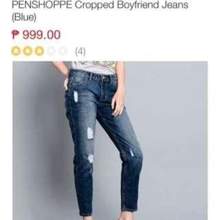 BoyFriend Jeans (Semi Tattered)