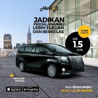 Promo Weekend Sewa Mobil Alphard Transformer 2016 di Jakarta Hanya di Nemob.id