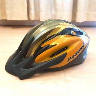 Prowell Helm Sepeda - Silver Yellow