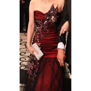 Red Lux Evening Gown