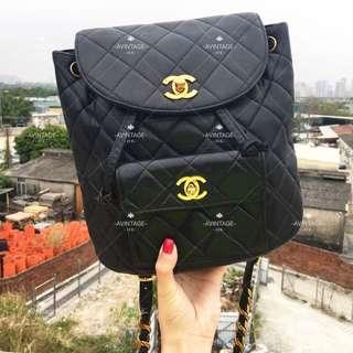 (SOLD)Chanel Vintage 黑色 Duma 背囊