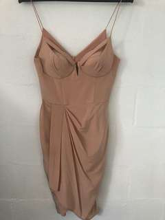 Zimmermann plunge silk drape dress size 2